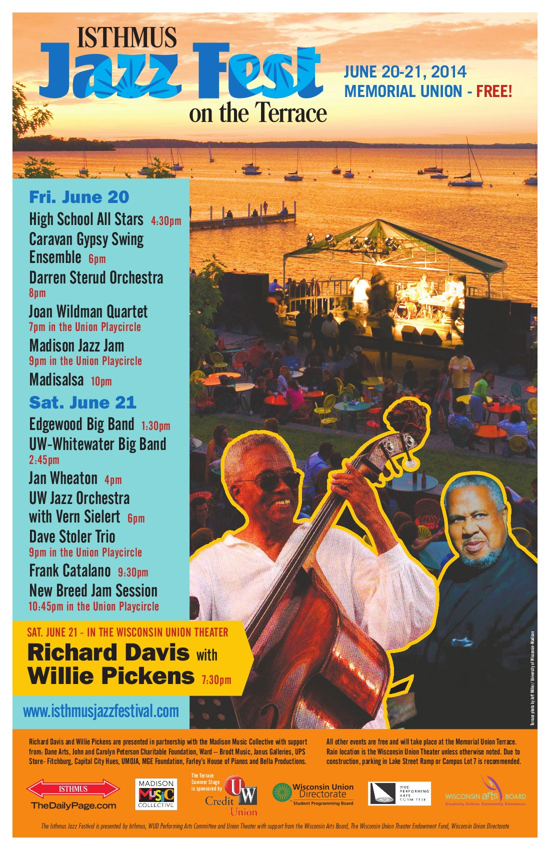 Isthmus Jazz Festival Poster